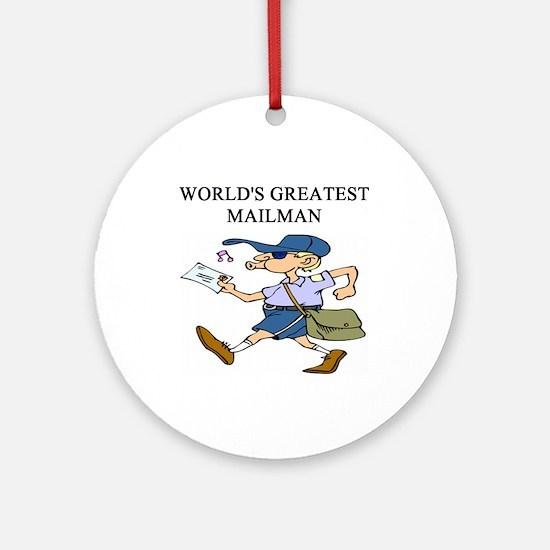 worlds greatest mailman Ornament (Round)