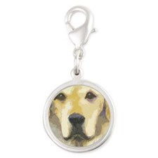 yellow lab cafepress Silver Round Charm