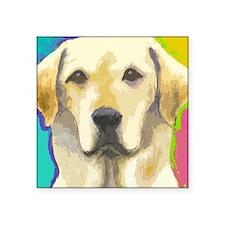 "yellow lab cafepress Square Sticker 3"" x 3"""