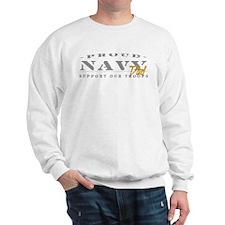 Proud Navy Dad (gold) Sweatshirt