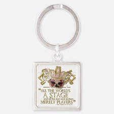 as you like it 2 Square Keychain