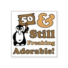 "Adorable50 Square Sticker 3"" x 3"""