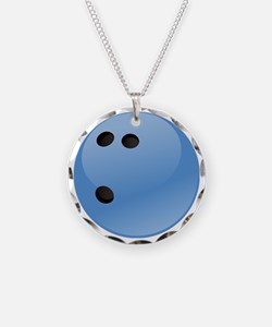 Blue bowling ball Necklace
