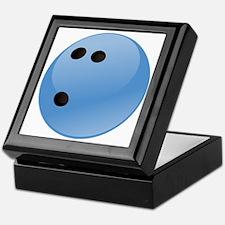 Blue bowling ball Keepsake Box