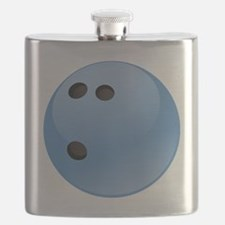 Blue bowling ball Flask