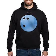Blue bowling ball Hoodie