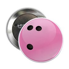 "Pink Bowling Ball 2.25"" Button"