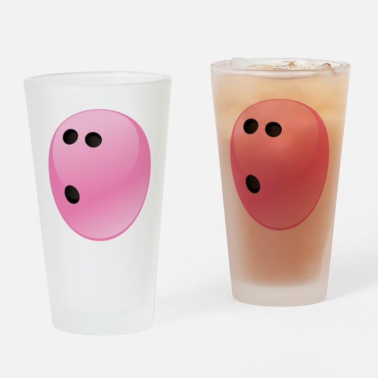 Pink Bowling Ball Drinking Glass