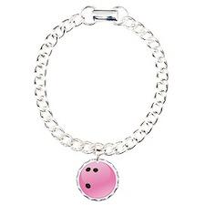 Pink Bowling Ball Bracelet