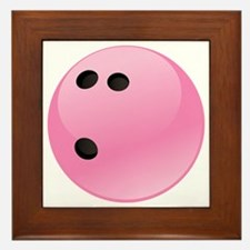 Pink Bowling Ball Framed Tile