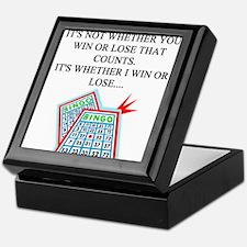 bingo player gifts t-shirts Keepsake Box