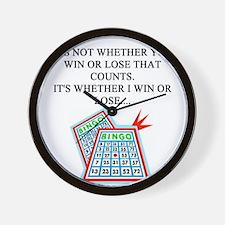 bingo player gifts t-shirts Wall Clock