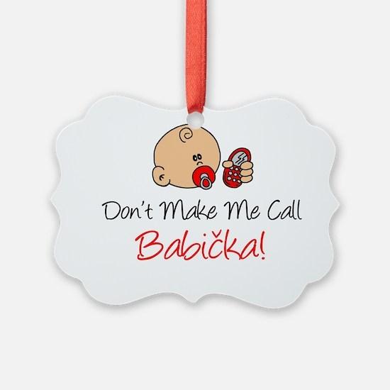 Czech Babicka Ornament