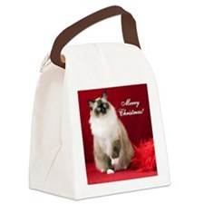 Maddie Merry Christmas Tile Coast Canvas Lunch Bag