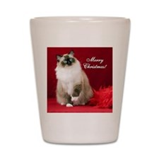 Maddie Merry Christmas Tile Coaster Shot Glass