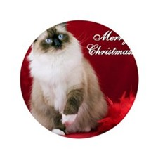 "Maddie Merry Christmas Tile Coaster 3.5"" Button"