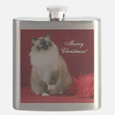 Maddie Merry Christmas Tile Coaster Flask