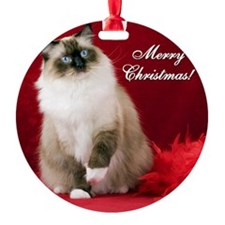 Maddie Merry Christmas Tile Coaster Ornament