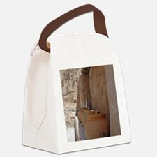 clay_pots_panel Canvas Lunch Bag