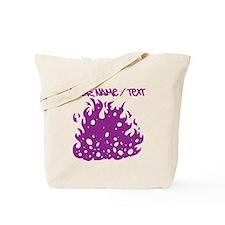 Purple Fire Tote Bag
