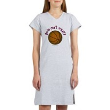 basketball-brown-pink Women's Nightshirt