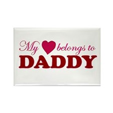 Heart Belongs to Daddy Rectangle Magnet
