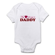 Heart Belongs to Daddy Infant Bodysuit