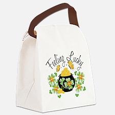feelingluckypot Canvas Lunch Bag
