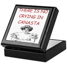 canasta player gifts Keepsake Box