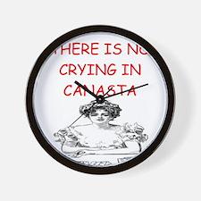 canasta player gifts Wall Clock