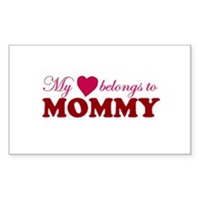 Heart Belongs to Mommy Rectangle Decal