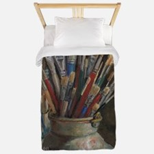 Paint Brushes 3 Twin Duvet