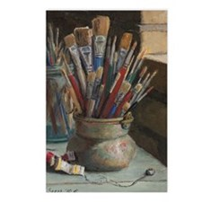 Paint Brushes 3 Postcards (Package of 8)