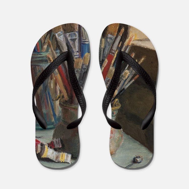 Paint Brushes 3 Flip Flops