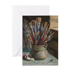 Paint Brushes 3 Greeting Card