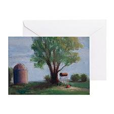 Silo and Tree Greeting Card