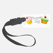 my-cupcakes-are-sweet-tee2 Luggage Tag