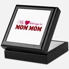 Heart Belongs to Mom mom Keepsake Box