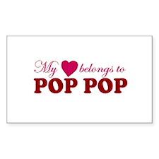 Heart Belongs to Pop pop Rectangle Decal