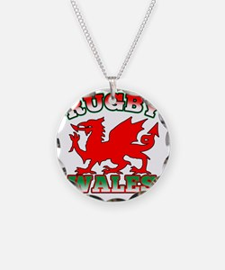 Rugby Wales Flag Dragon Necklace