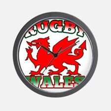 Rugby Wales Flag Dragon Wall Clock