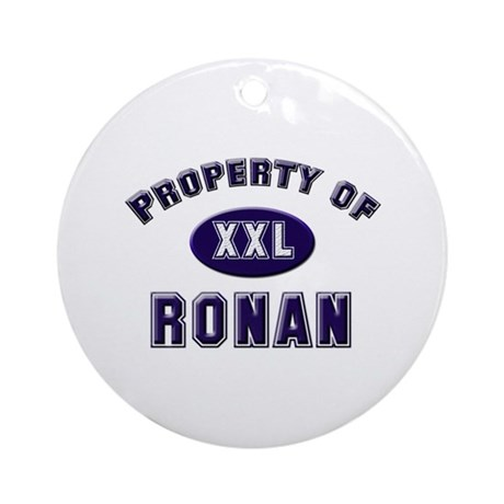 Property of ronan Ornament (Round)