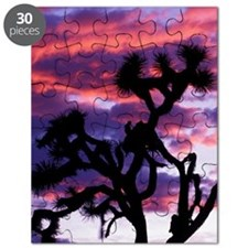 California. Joshua tree at sunset Puzzle