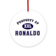Property of ronaldo Ornament (Round)