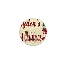 Jaydens first Christmas Mini Button