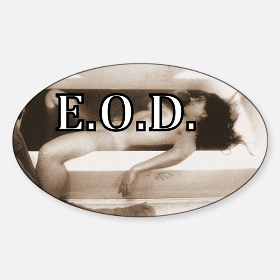 DEATHREDOEDIT-1 Sticker (Oval)