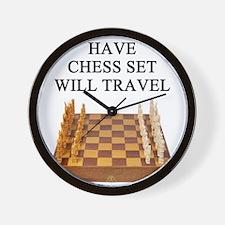 chess player joke gifts t-shirts Wall Clock