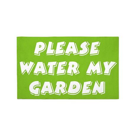 water my garden 3'x5' Area Rug