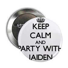 "Keep Calm and Party with Jaiden 2.25"" Button"