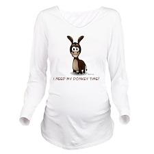 t8 Long Sleeve Maternity T-Shirt